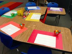 Use laminated construction paper to teach personal space at the beginning of the year.