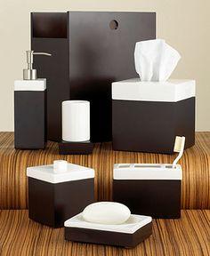 "Hotel Collection ""Standard Suite"" Bath Accessories - Bathroom Accessories at Macy's Gold Bathroom Accessories, Spa Accessories, Decorative Accessories, Masculine Interior, Hotel Collection Bedding, Bed & Bath, Decoration, Interior Design, Home Decor"