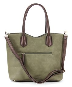 Look at this #zulilyfind! Chasse Wells Olive Green Vie Facile Tote by Chasse Wells #zulilyfinds
