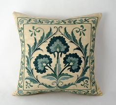 Your place to buy and sell all things handmade Cushion Embroidery, Embroidery Motifs, Embroidery Designs, Kilim Pillows, Cushions, Accent Pillows, Cushion Covers, Cover Pillow, Quilted Pillow