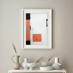 Orange textured hand painted wall art, geometrical contemporary art, ready to and on the wall artwork. Minimalist, contemporary, abstract. It will be a wonderful decoration for your home or office and a great gift for your friends and family. No matter the home style, modern, minimalist, art deco, industrial, the painting will add color, joy and depth to your space. Orange, light turquoise blue, black, white, unbleached titanium.