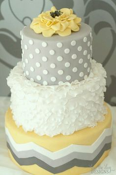 Chevron cake  Love! Change color to pink.