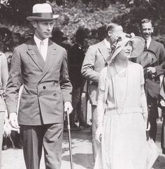 Elizabeth Bowes-Lyon and Prince Albert
