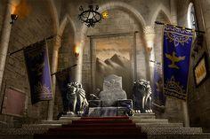 throne room Fantasy castle Throne room Fantasy city