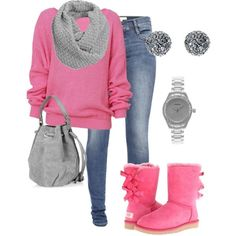 Pink uggs style. Super cute!!