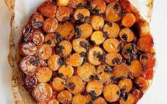 How scrumptious does this look! I have not tried this recipe yet (from PLENTY, Yotam Ottolenghi's exquisite vegetarian cookbook), but I will very very soon! | Surprise tatin: Potato Tatin!