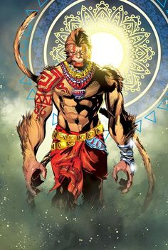 Hanuman, Pressy Patanik on ArtStation at https://www.artstation.com/artwork/ZOeXm