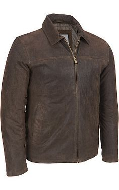 Wilsons Leather Open-Bottom Vintage Leather Jacket - #WilsonsLeather