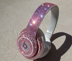 Sparkling Pink Swarovski BLING Beats Custom Bedazzled with Crystals Cute Headphones, Wireless Headphones, Magical Jewelry, Earphone Case, Iphone Charger, Pink Bling, Tech Accessories, Swarovski Crystals, Cool Things To Buy