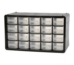 Raaco sturdy, durable, plastic storage cabinet with 20 drawers. Computer Keyboard, 18th, Plastic, Electronics, Products, Computer Keypad, Keyboard, Consumer Electronics, Gadget