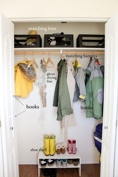 Coat Closet Organization // Delia Creates #MichaelsMakers #ad