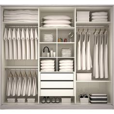 Un dressing bien rangé http://www.m-habitat.fr/petits-espaces/dressing/les-dressings-sur-mesure-2643_A