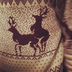 Deer Sweater.  Next ugly sweater party