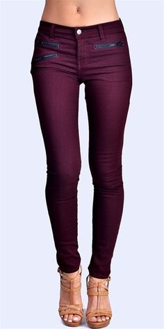 This Pin was discovered by Abbie Wallace. Discover (and save!) your own Pins on Pinterest. | See more about plum jeans, colored jeans and purple jeans.