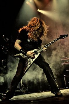Dave Mustaine with Dean VMNT