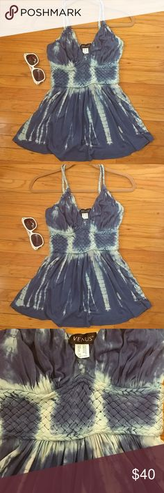 Tie dye too Sexy Tie dye Venus criss cross top. Features braided waist and matching straps. Pullover  New with tags. Machine wash cold. venus Tops