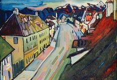 Wassily Kandinsky. Murnau - Obermarkt, 1908