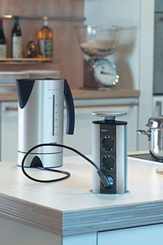 pop-up outlets kitchen islands | the pop up power socket | kitchen