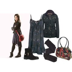 Clara Oswald - The Rings of Akhaten by roseunspindle on Polyvore featuring French Connection, Barbour, Charlotte Russe, Kurt Geiger and ClaraOswald