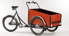 christiania cargo bike - grew up with these, we need to see more in the US. Great transportation:-)