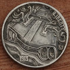 The full 90 image collection of awesome and artistically carved US coins. Us Coins, Rare Coins, Hobo Nickel, Custom Coins, Coin Art, Bullion Coins, World Coins, Coin Collecting, Art Forms