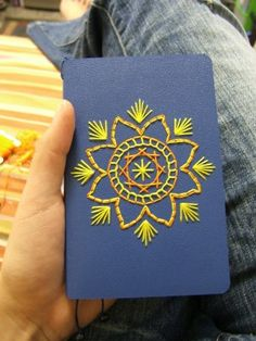 Embroidered Journal #embroidery #bookmaking