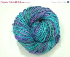 SALE Premium Recycled Sari Silk Yarn  by SilkDivine on Etsy, $8.07