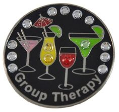 Navika Group Therapy Swarovski Crystal Ball Marker with Hat Clip by Navika USA Inc.. $18.95. Navika Group Therapy Ball Marker Sometimes we all just want to get away from the daily stresses in our lives. Why not make light when things get tough with our preferred RandR Beautifully crafted ball markers featuring genuine Swarovski Crystals adds some BLING to your game Show off your sparkling uniquely designed Golf Crystal Ball Marker on the green. All items include ...
