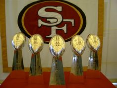 San Francisco 49ers 5 Superbowl Trophies at 4949 Centennial Blvd. time for another one, babe!!!!!