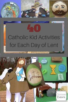 Catholic Kid and Family Activities for each day of Lent for Holy Week Good Friday Ash Wednesday religious education Holy Thursday lent crafts for kids Catholic lent activities and crafts for catholic kids young children older kids adults lent countdown Catholic Easter, Catholic Lent, Catholic Religious Education, Catholic Crafts, Catholic School, Catholic Children, Holy Week Activities, Easter Activities, Kindergarten Activities