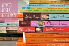 How to host a children's book swap - this would be great to do this summer.
