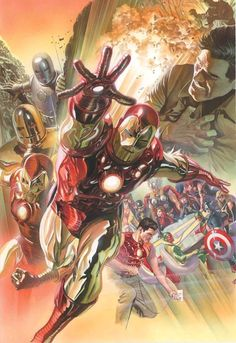 Alex Ross has created countless works of art for the world Famous Marvel Comics. Marvel Comics, Hq Marvel, Bd Comics, Marvel Heroes, Alex Ross, Comic Book Characters, Marvel Characters, Comic Books Art, Book Art