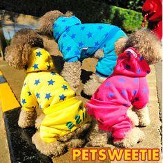 Fashion 2014 Winter Dog Pet Puppy Jumpsuit Star Kiss Pet Apparel XXS XS S M L