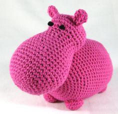 Knuffel nijlpaard, roze