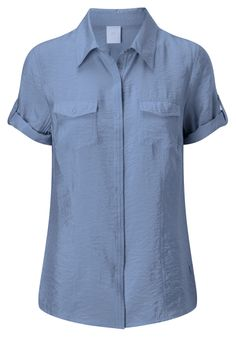 Damart textured blouse in sky, reference code T124 www.damart.co.uk