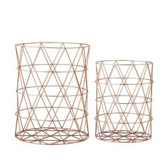 Discover the Bloomingville Copper Storage Baskets - Set of 2 at Amara