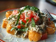 Sweet Potato Gnocchi with Italian Sausage Alfredo by Lauren's Latest on Tasty Kitchen