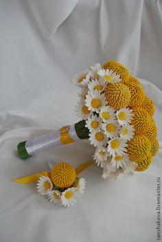 Букет невесты с ромашками. Handmade.