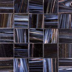 Obsidian OP R103 metallic glass mosaic tile