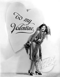 Hollywood, California c. 1934 Universal film player Dorothy Gulliver, 1908~1997 delivers a Valentine