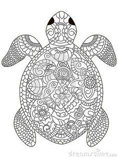sea turtle coloring book for adults vector illustration. Anti-stress coloring for adult. Black and white lines. Acquista questo contenuto vettoriale su Shutterstock e trova altre immagini. Turtle Coloring Pages, Animal Coloring Pages, Mandala Coloring, Coloring Book Pages, Coloring Sheets, Mandalas Painting, Mandalas Drawing, Zentangles, Mandala Disney