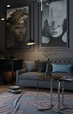 Modern pictures for the living room - 20 design ideas and tips