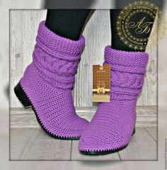 Купить Полусапожки демисезонные- Karolina ...Классика...цвет-пурпур.. - брусничный, полусапожки, обувь ручной работы
