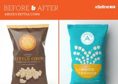 Angie's Kettle Corn before and after. designed by Soulseven.