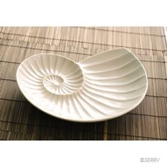 Gifts for Her - Nautilus Platter Seaside Cottage Decor, Trade Wind, Jewelry Dish, Jewelry Box, Plate Design, Pottery Designs, Nautilus, Clay Projects, Fair Trade