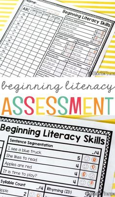 FREE Beginning Literacy Assessment