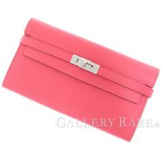Fashion and Lifestyle Rose Lipstick, Hermes Kelly, Fashion Handbags, Card Holder, Wallet, Lifestyle, Pink, Leather, Stuff To Buy