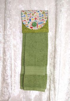 Hanging Hand Towel U2022 Hanging Green Bath Towel U2022 Sage Hanging Dish Towel U2022  Vintage Kitchen Part 78