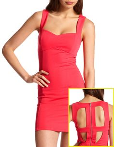 Cage-Back Pencil Dress   GORGEOUS & ON SALE 16.99 :o