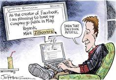 The 100 Billion Dollar Affair – Facebook, Mark Zuckerberg And IPO Explained In Cartoons